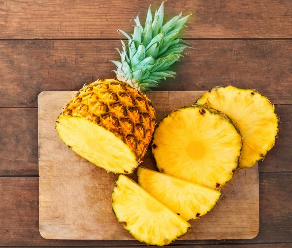 Pineapple On Wooden Cutting board